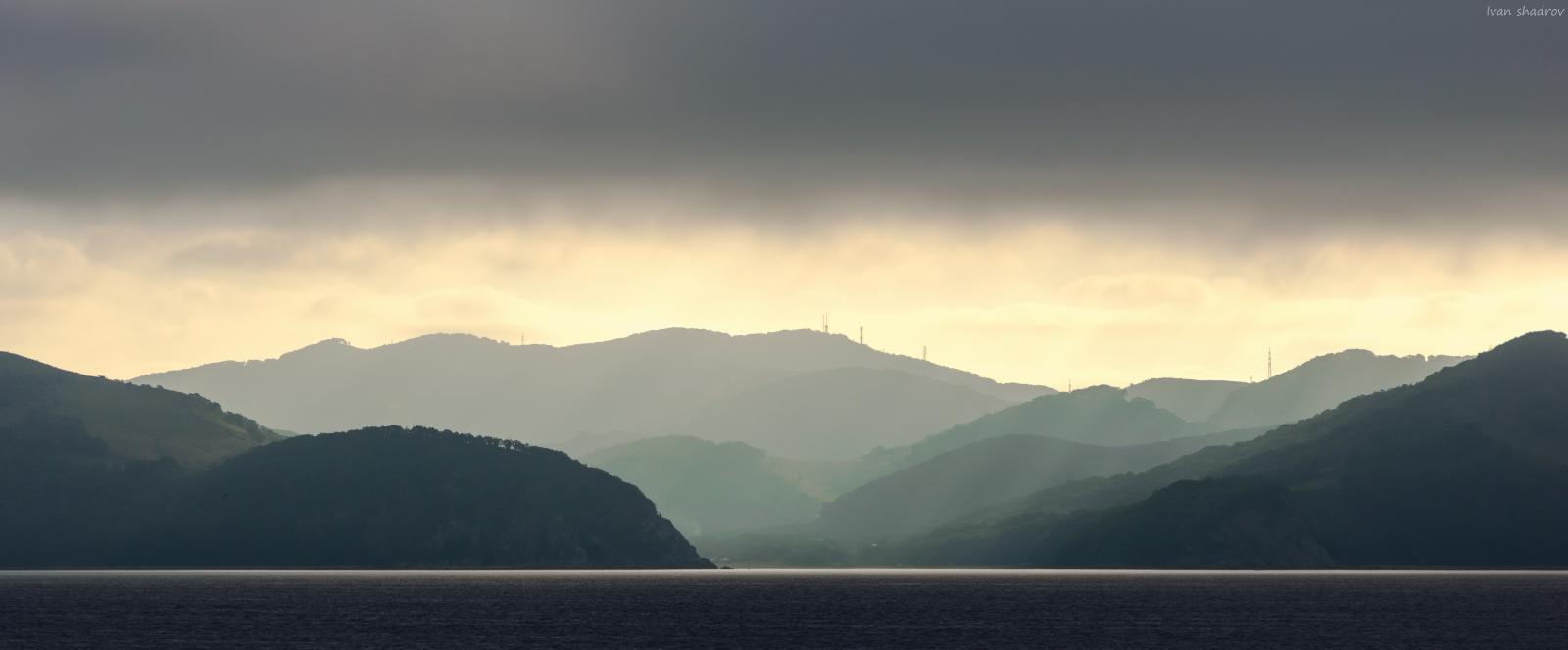 Приятный пейзаж с судна